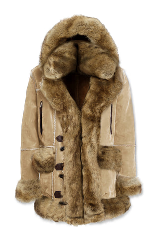 Aspen Shearling Jacket (Latte)