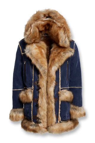 Aspen Shearling Jacket (Midnight Blue)