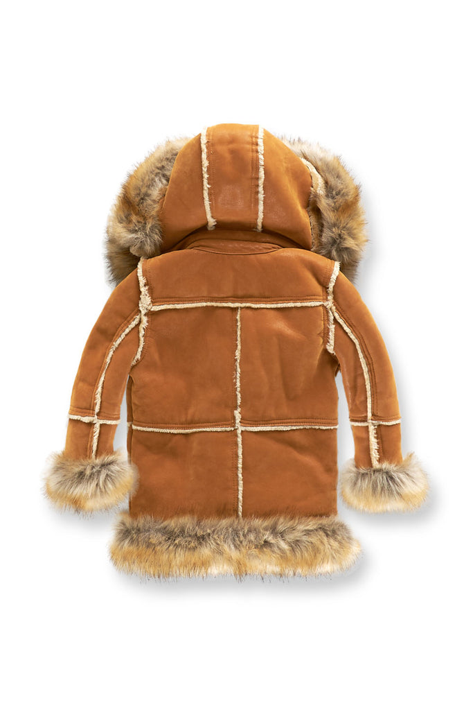 Kids Aspen Shearling Jacket (Cognac)