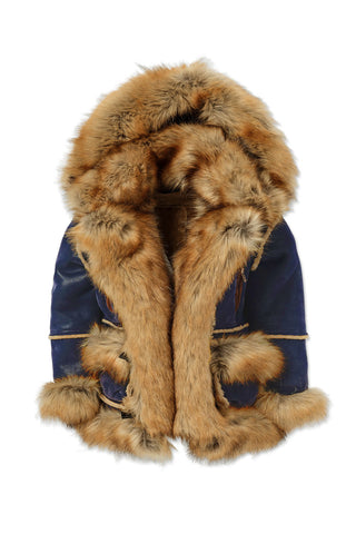 Jordan Craig - Kids Aspen Shearling Jacket (Midnight Blue)