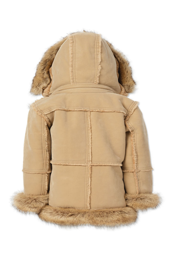Kids Aspen Shearling Jacket (Latte)
