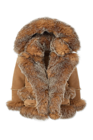 Kids Aspen Shearling Jacket (Desert Fox)