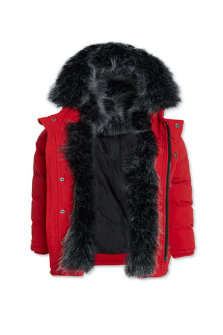 Kids Fargo Fur Lined Parka 2.0 (Red)
