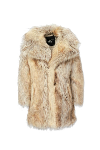 Kids Godfather Faux Fur Coat (Coyote)