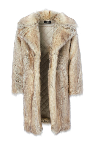 Big Men's Godfather Faux Fur Coat (Coyote)
