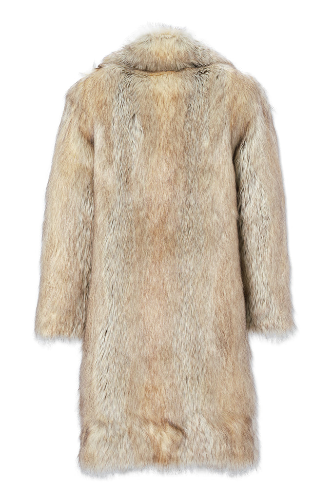Jordan Craig - Godfather Faux Fur Coat (Coyote)