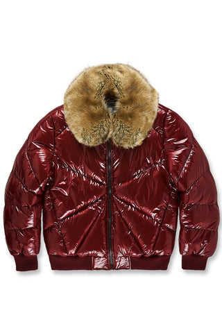 Lenox Nylon Puffer Jacket (Wine)