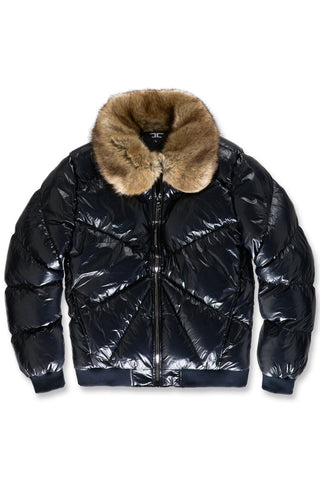 Lenox Nylon Puffer Jacket (Navy)
