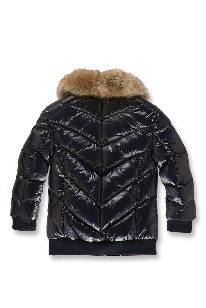 Kids Lenox Nylon Puffer Jacket (Navy)