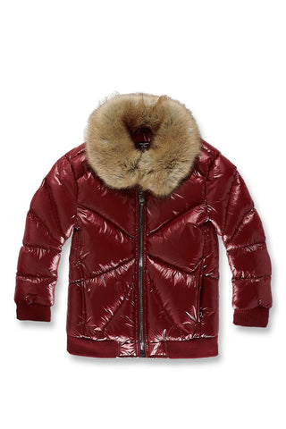 Kids Lenox Nylon Puffer Jacket (Wine)
