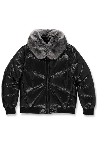 Lenox Nylon Puffer Jacket (Black)
