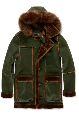 Jordan Craig - Big Men's Denali Shearling Jacket (Army Green)