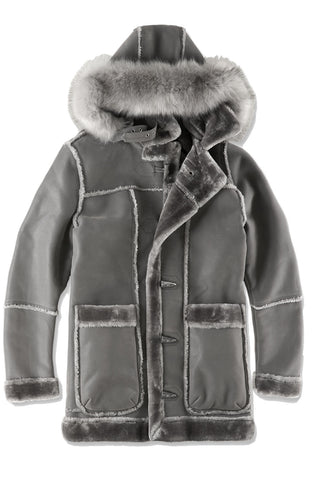 Jordan Craig - Big Men's Denali Shearling Jacket (Charcoal)