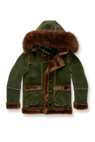 Kids Denali Shearling Jacket (Army Green)