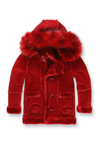 Kids Denali Shearling Jacket (Red)