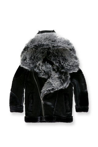 Kids El Jefe Shearling Moto Jacket (Black)