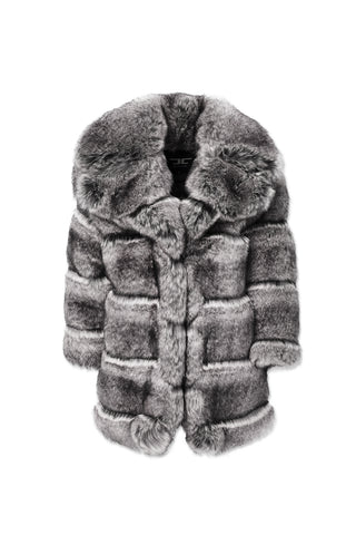 Kids Don Juan Faux Fur Coat (Chinchilla)