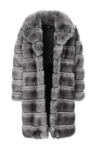 Don Juan Faux Fur Coat (Chinchilla)