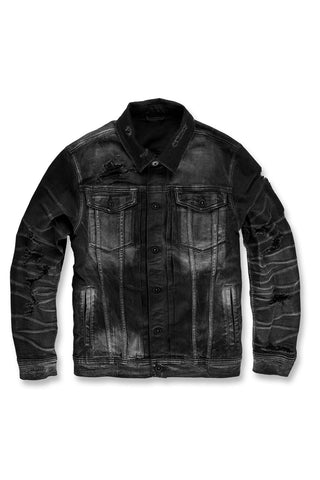 Reno Denim Trucker Jacket (Industrial Black)