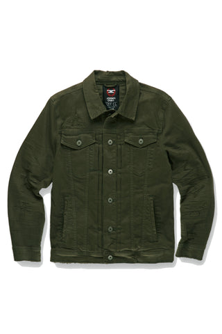 Tribeca Twill Trucker Jacket (Army Green)