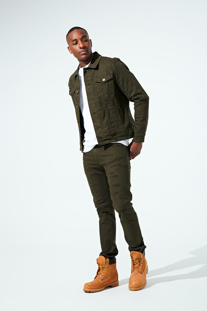 Aaron - Tribeca Twill Pants (Army Green)