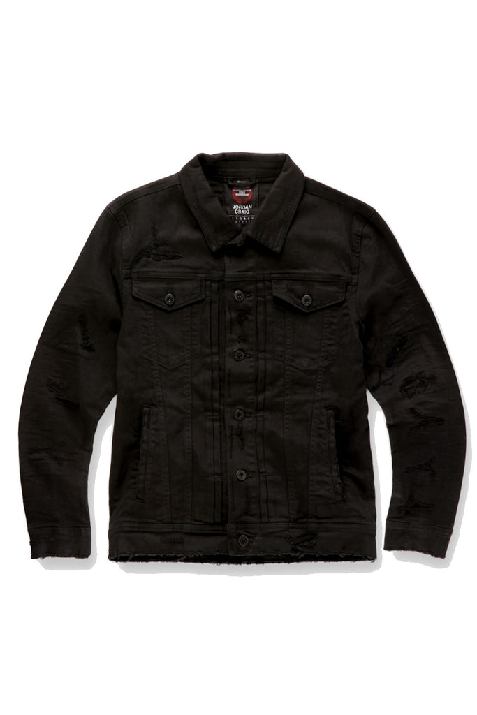 Jordan Craig - Tribeca Twill Trucker Jacket (Black)