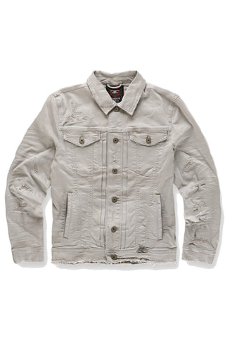 Tribeca Twill Trucker Jacket (Light Grey)