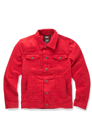 Tribeca Twill Trucker Jacket (Red)