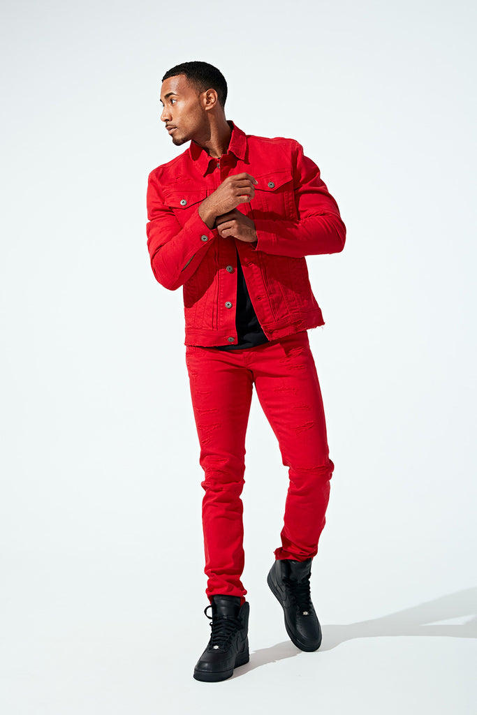 Jordan Craig - Tribeca Twill Trucker Jacket (Red)