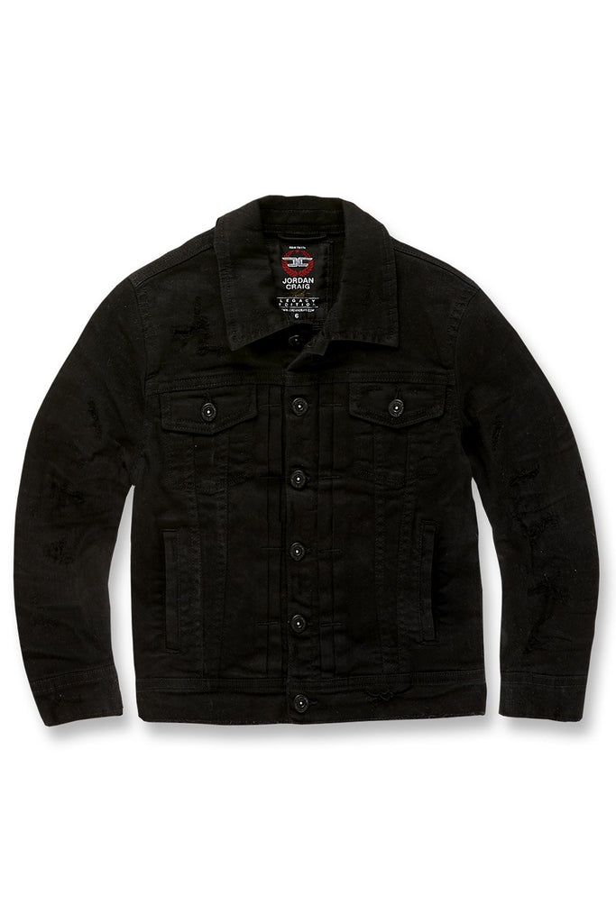 Kids Tribeca Twill Trucker Jacket (Black)