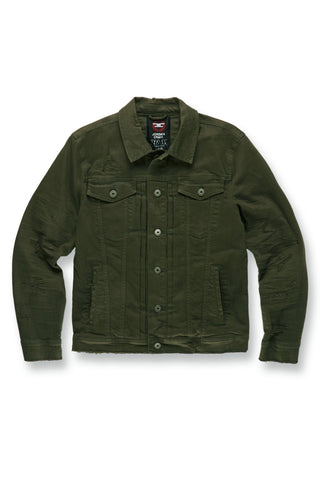 Jordan Craig - Big Men's Tribeca Twill Trucker Jacket (Army Green)