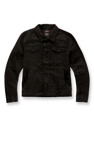 Jordan Craig - Big Men's Tribeca Twill Trucker Jacket (Black)