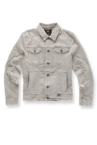 Jordan Craig - Big Men's Tribeca Twill Trucker Jacket (Light Grey)