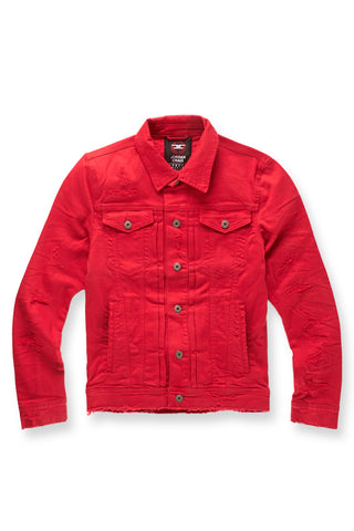 Jordan Craig - Big Men's Tribeca Twill Trucker Jacket (Red)