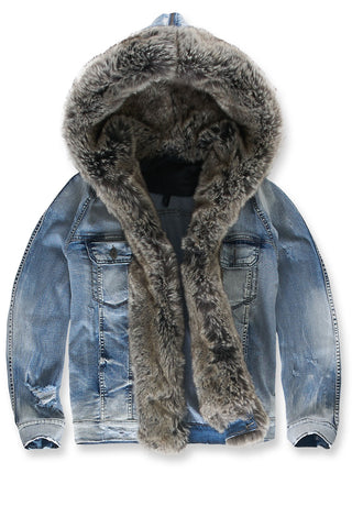 Durango Hooded Denim Jacket (Silver Bullet)