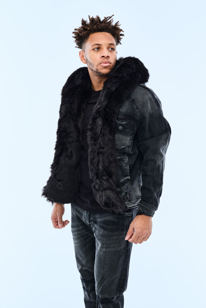 Jordan Craig - Durango Hooded Denim Jacket (Noir)