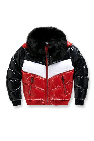Kids Sugar Hill Nylon Puffer Jacket (Red)
