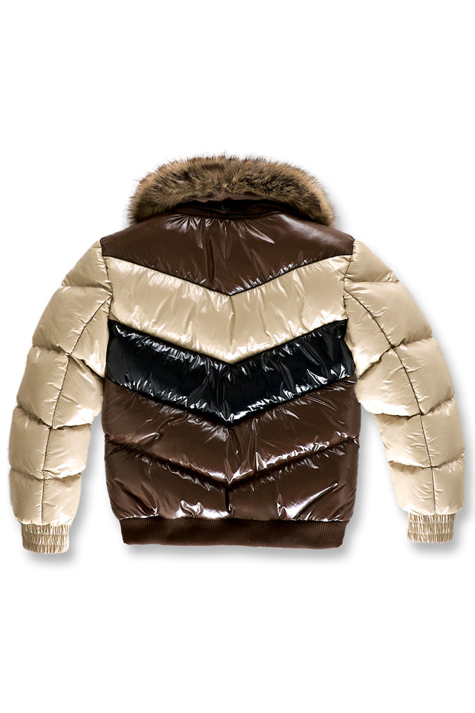 Kids Sugar Hill Nylon Puffer Jacket (Mocha)