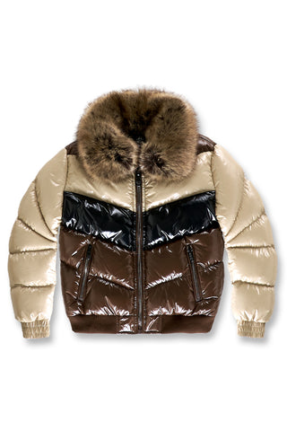 Big Men's Sugar Hill Nylon Puffer Jacket (Mocha)