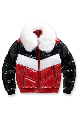 Big Men's Sugar Hill Nylon Puffer Jacket (Red)