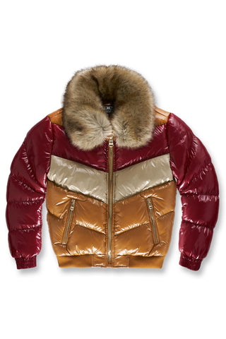 Kids Sugar Hill Nylon Puffer Jacket (Timber Wheat)