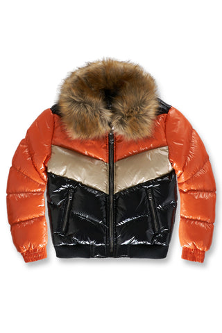 Big Men's Sugar Hill Nylon Puffer Jacket (Vanilla Starfish)