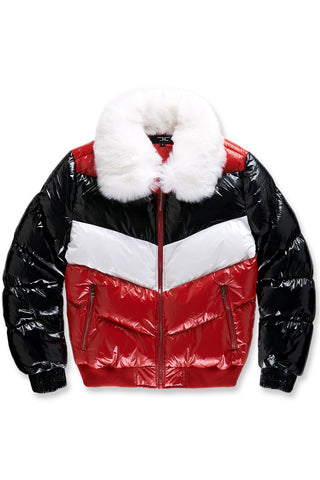 Sugar Hill Nylon Puffer Jacket (Red)