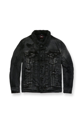 Kids Reno Denim Trucker Jacket (Industrial Black)