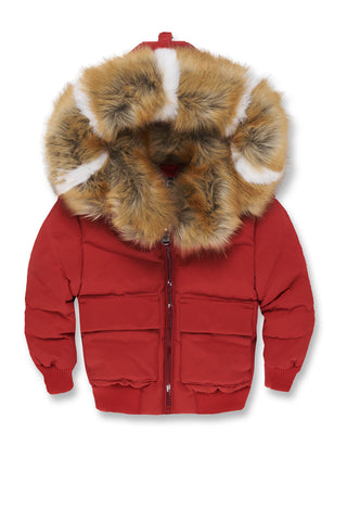 Kids Hollis Bomber Jacket (Red)