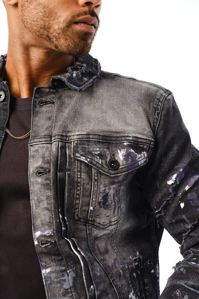 Avalanche Denim Trucker Jacket (Court Purple)