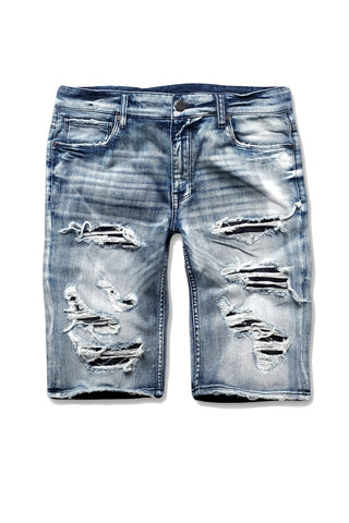 Slasher Denim Shorts (Aged Wash)