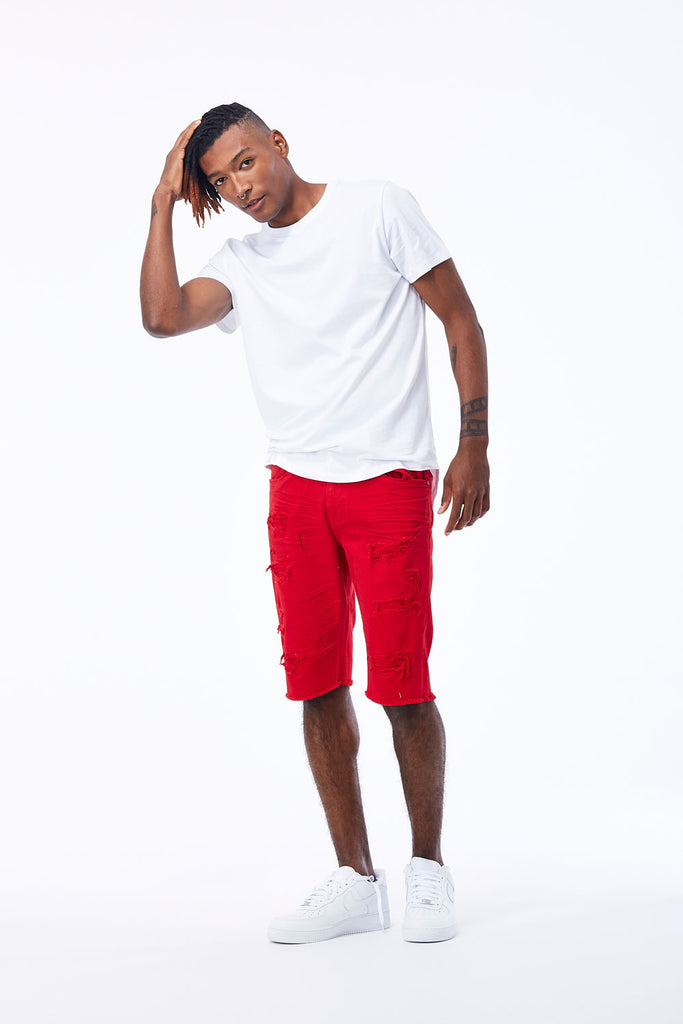 Memphis Twill Shorts 2.0 (Red)