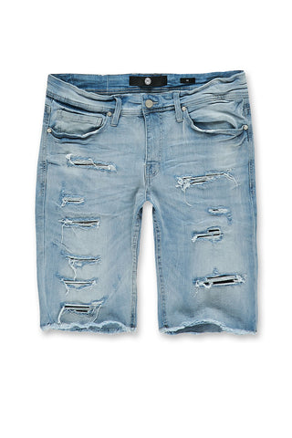 Wynwood Denim Shorts (Ice Blue)