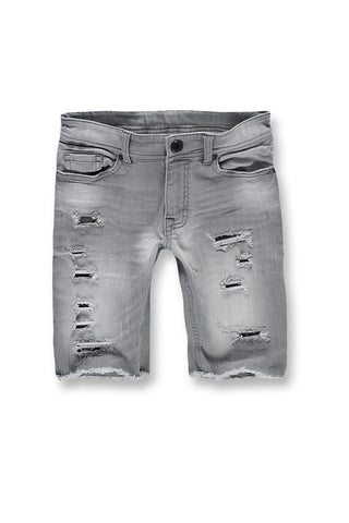 Kids Wynwood Denim Shorts (Cement Wash)